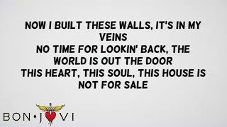 bon jovi this house is not for sale official lyrics lyric video