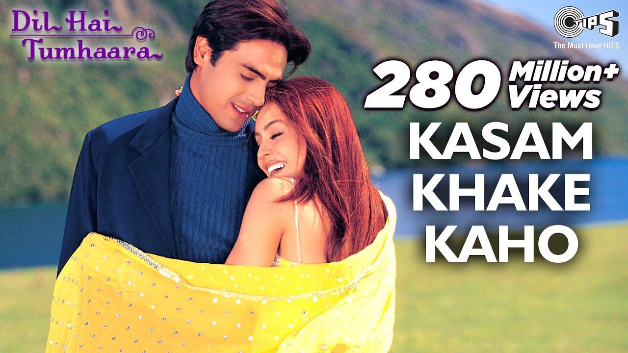 Download Kasam Khake Kaho Video Song - Dil Hai Tumhaara | Preity, Arjun & Mahima | Alka Y & Kumar Sanu