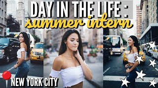 day in the life of an intern- what's in my purse, what I eat in a day, outfit idea
