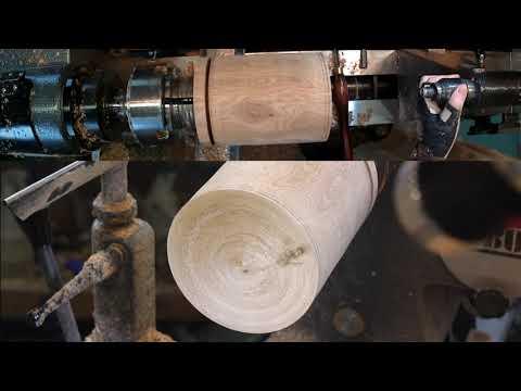 Woodturning a plastic jar in a wooden box, boite de bois tournage sur bois