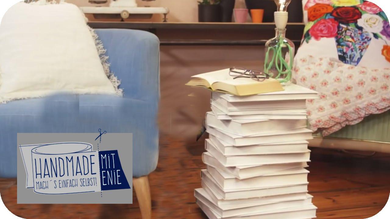nachtk stchen aus b chern handmade mit enie mach 39 s einfach selbst sixx youtube. Black Bedroom Furniture Sets. Home Design Ideas