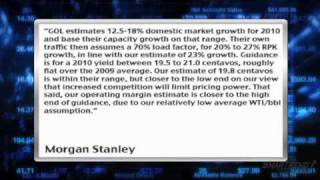 news update morgan stanley says gol airlines nyse gol guidance inline with their estimates