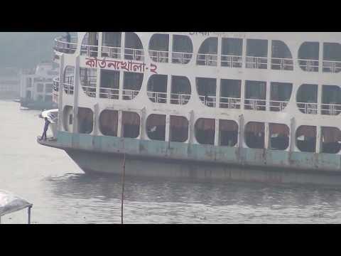 MV KirtonKhola 2 Big Ship Barishal To Dhaka Bangladesh HD Video 71
