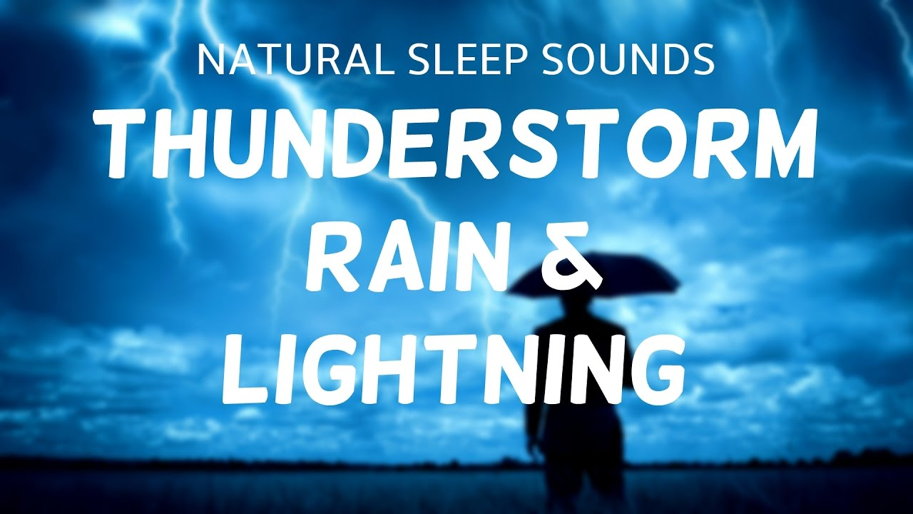 Wind And Rain Sounds For Sleeping Thunder Lightning Storm By Night