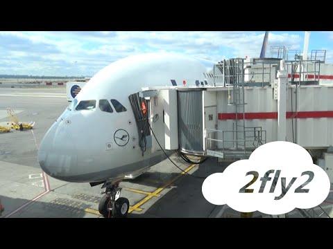 LUFTHANSA AIRBUS A380 NEW YORK - FRANKFURT ECONOMY CLASS HD