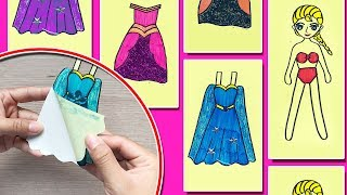 DIY STICKER, TỰ LÀM HÌNH DÁN CÔNG CHÚA ELSA THAY QUẦN ÁO - DIY Sticker dolly dressing (Chim Xinh)