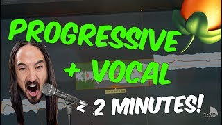How To Make Progressive House Vocal Tune In 2 Minutes?!