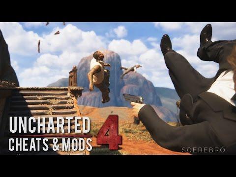 Uncharted 4 - Infinite Ammo/No Gravity/Mirror World (Bonus Cheats and Gameplay Mods)