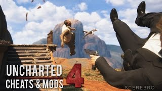 Uncharted 4 - Infinite Ammo/No Gravity/Mirror World (Bonus Cheats and Gameplay Mods)