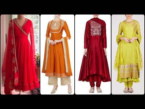 Embroided churidaar Frocks designs ideas/pajama Kurta designs/Punjabi suit designs