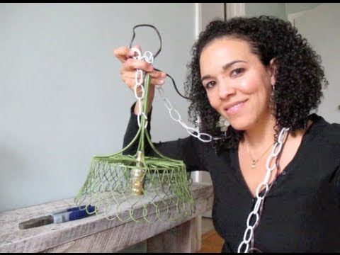 How to make a diy pendant lamp diy tutorial thrift diving youtube solutioingenieria Gallery