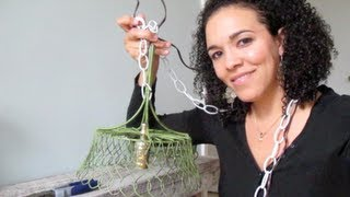 How To Upcycle A Diy Pendant Lamp: Diy Tutorial: Thrift Diving
