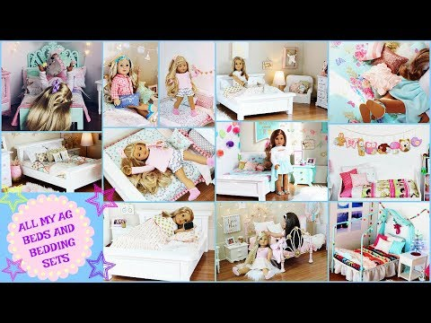 ALL MY AMERICAN GIRL DOLL BEDS AND BEDDING! {2018}