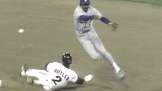LAD@SF: Interference extends Orel's shutout streak(9/23/88: An interference call at second base keeps Orel Hershiser's shutout streak alive at 43 innings during his 5th consecutive shutout Check out ..., 2015-11-24T22:45:01.000Z)