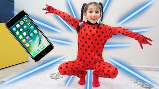 Fatima as Ladybug jumped out of the Phone | Dress Up Video For Kids