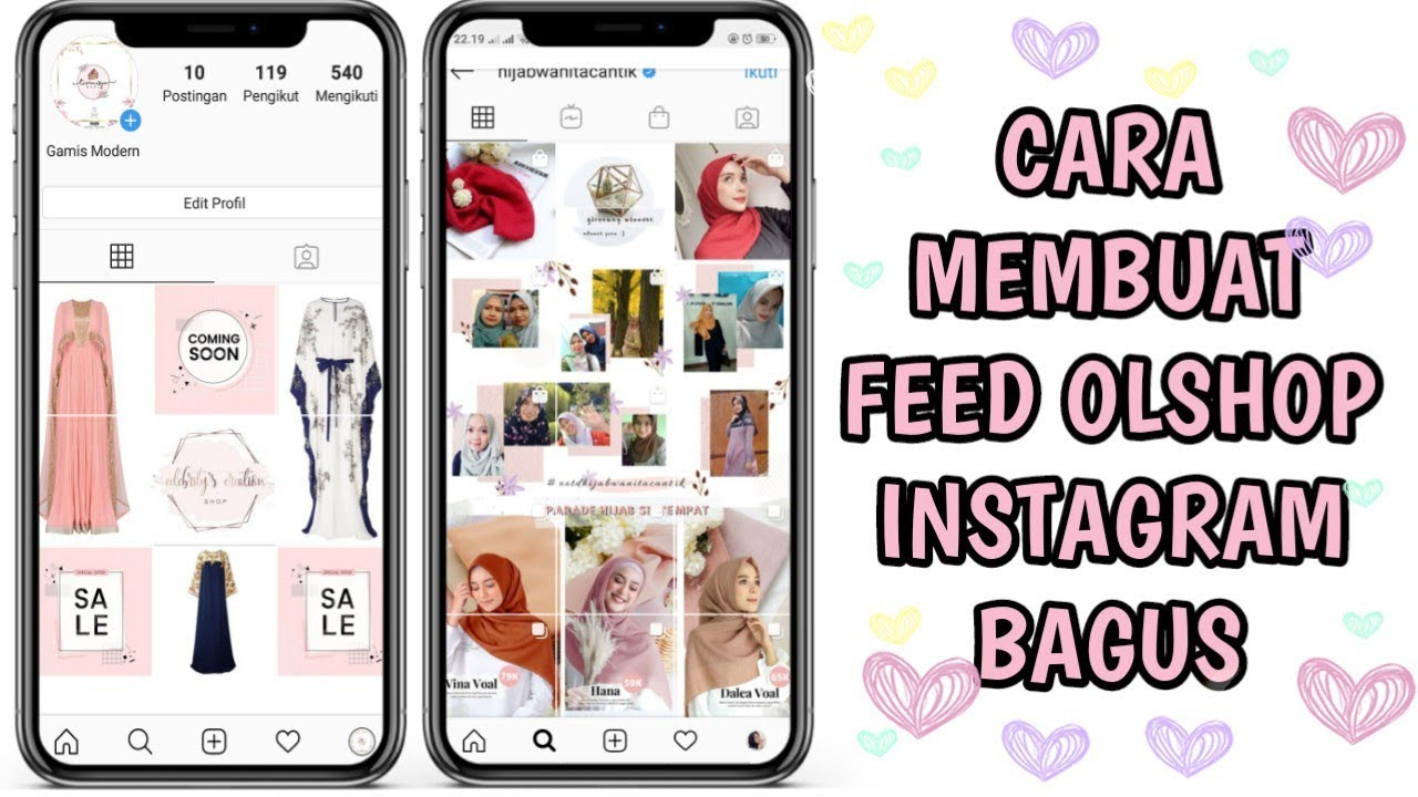 Cara Membuat Feed Instagram Bagus Buat Online Shop Youtube
