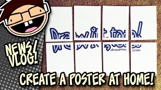 Make a Poster by Printing a Large Image on Multiple Pages | Draw it Too Vlog