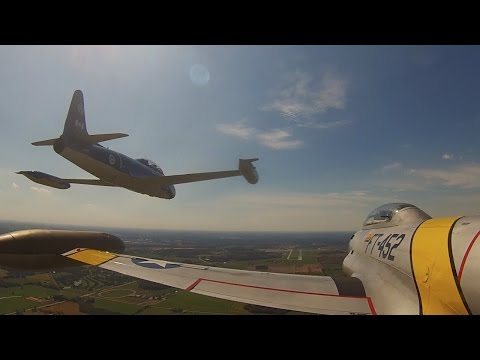 Flying Vintage Military Jets - SURPRISE for Air Force veteran! T-33 Flight VLOG