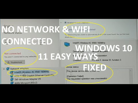 No Network, WiFi Connection Windows 10, Code 10, Wireless AC 9560 Not Working & More Fixed [2019]