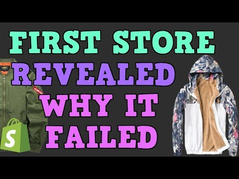 MY FIRST SHOPIFY DROPSHIPPING STORE REVEALED WHY IT FAILED