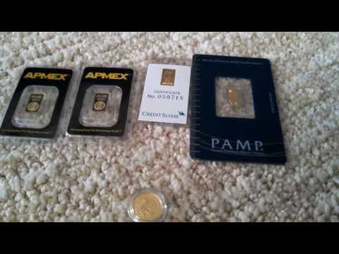 How to Buy Gold Bullion - 1 Gram Bar Comparison