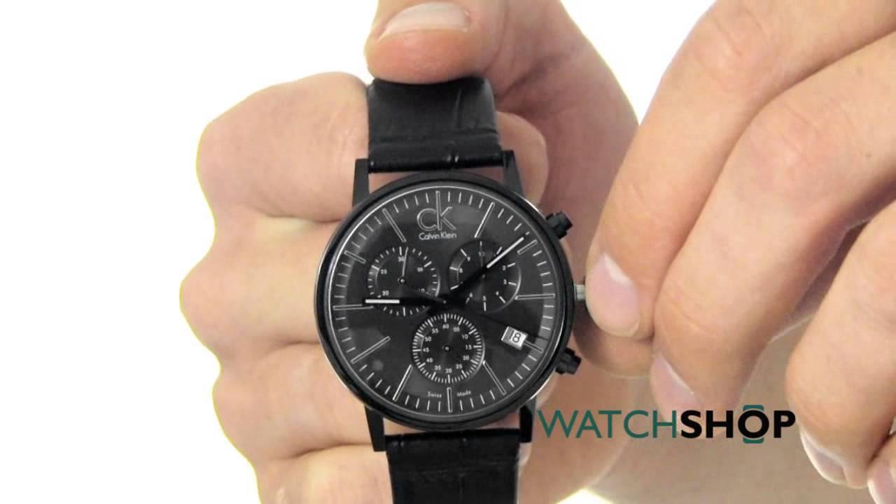 2bc1e35ba Calvin Klein Men's Post Minimal Black Collection Chronograph Watch  (K7627401)
