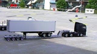 Tamiya 1/14 Semi trucks Globe Liner Scania R620 MAN TGX 6x4 King Hauler dropbed flatbed trailer