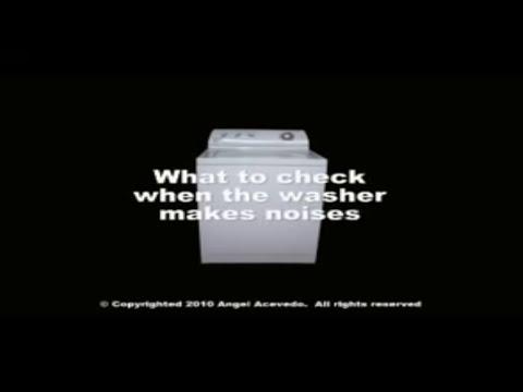 Washer Diagnostic Amp Repair Banging Noises Whirlpool