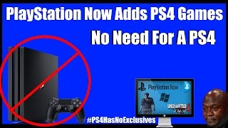 PS4 Exclusives Going To PC With PS Now CONFIRMED! PS4 Has No Exclusives!