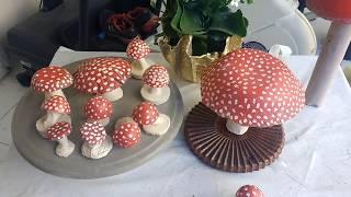 Cogumelos de cimento muito fácil de fazer