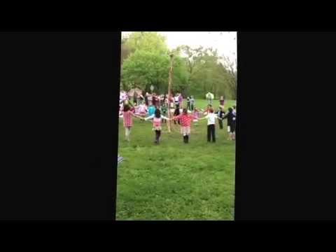 Maypole Dance, Sixth Grade then Second Grade 2014 Cincinnati Waldorf School