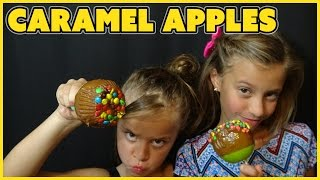 ✿ Easy Caramel Apples ✿ Nerds & M&m's | Food Friday Ep 7 | Smellybellytv