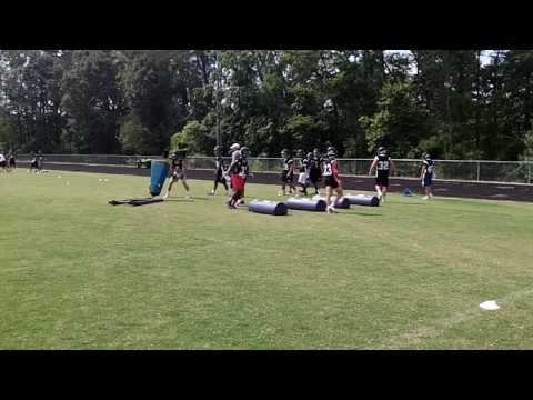 Working out at Grimsley High School on 8/2/16 with The Whrilies in football practice mode