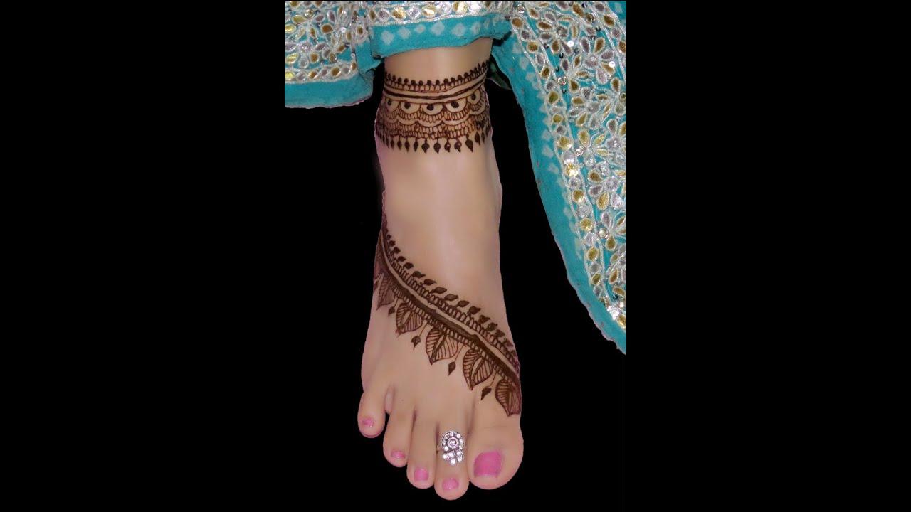 Foot Henna Designs: Latest Henna Design For Feet 2016 By Jyoti Sachdeva