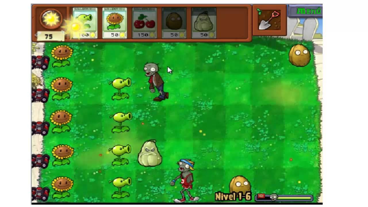 Plantas Vs Zombies Juegos Gratis Online En Internet Nivel 6