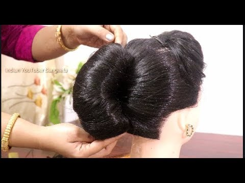 Easy and beautiful french roll Hairstyles | French Bun hairstyle for party/wedding | hairstyle 2019
