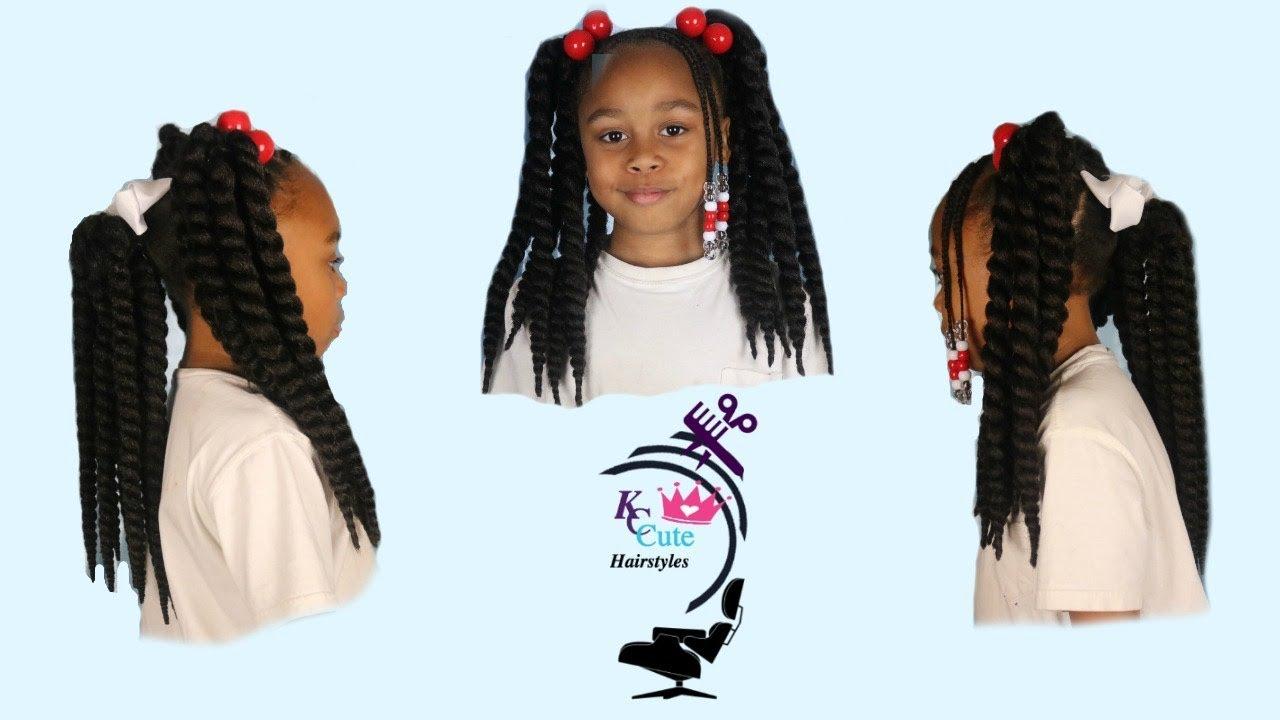 Kc Three Crochet Ponytails Little Girls Hairstyles Kids Hairstyles