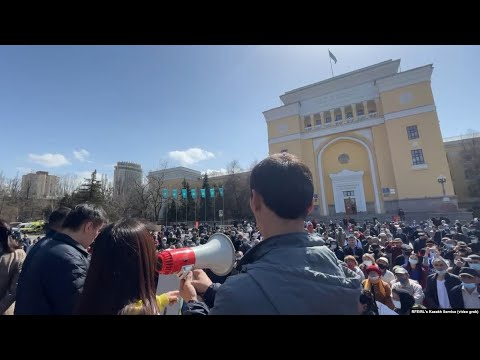 Hundreds Rally In Kazakhstan To Protest Growing Chinese Influence