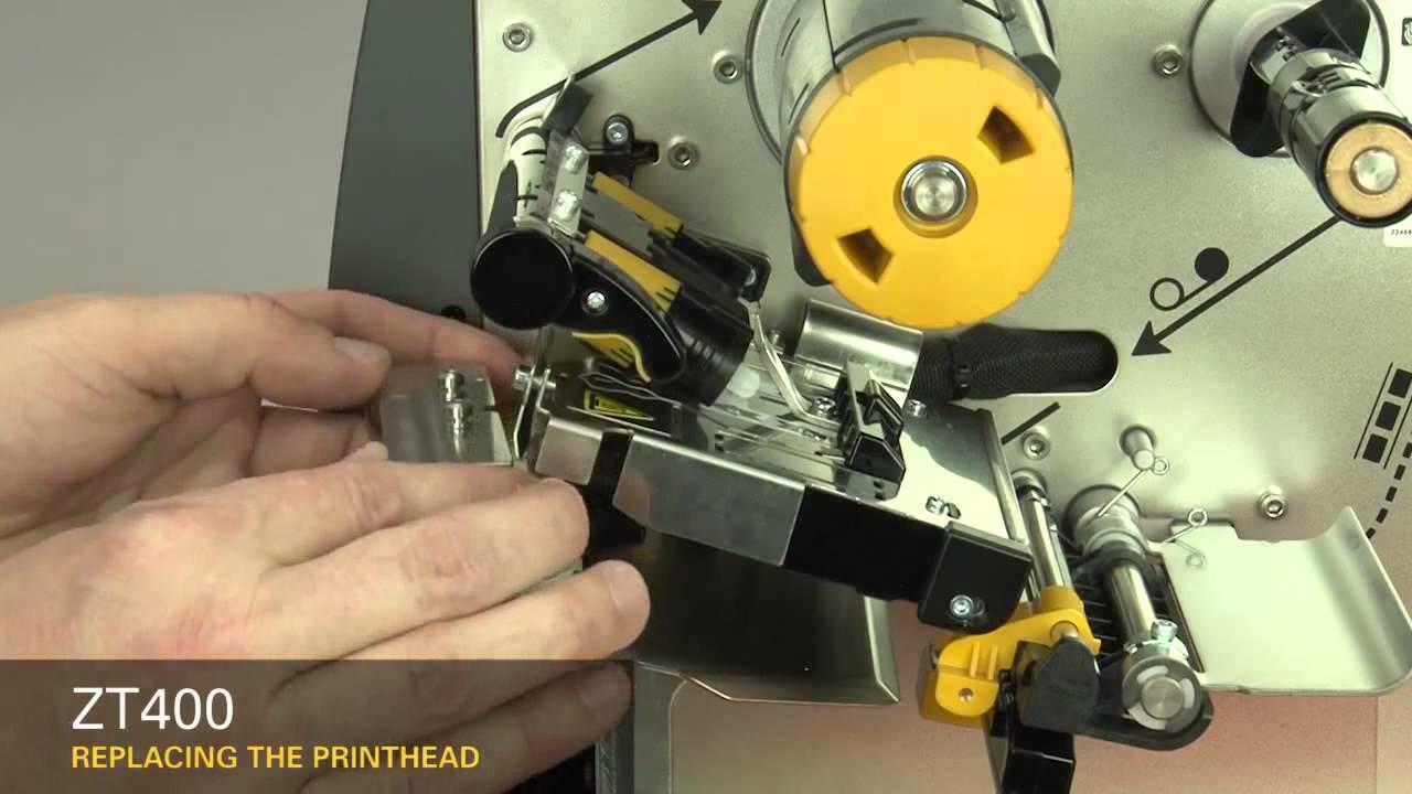 Zebra Zt410 Zt420 Zamenjava Tiskalne Glave Printhead