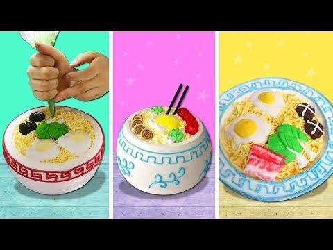Girl DIY! FUNNY COOKING LIFE HACKS WITH Shrimp Noodles   Fun DIY Food Tricks & CRAZY COOKING HACKS