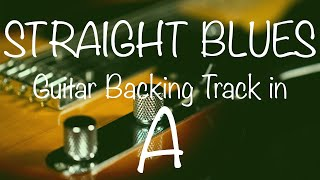 Straight Blues Guitar Backing Track in A