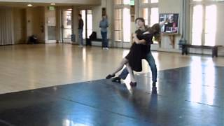 Gerentt Chan and Tatiana Kuzovleva dance cross-step waltz
