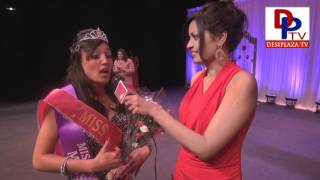 Winner : Miss India USA DFW 2012, Meenakshi speaking to Desiplaza TV Dallas