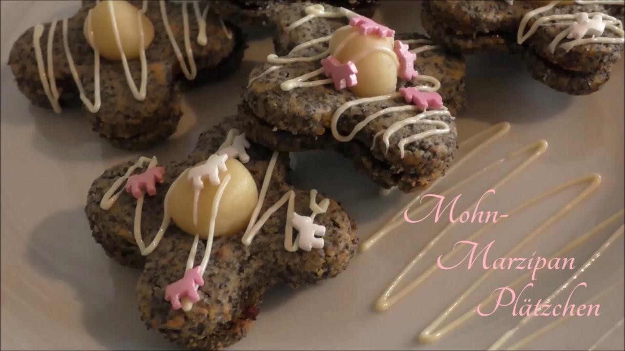 Schnelle Weihnachtskekse.Mohn Marzipan Plätzchen Weihnachtskekse Keks Rezept Schnelle Und Einfach
