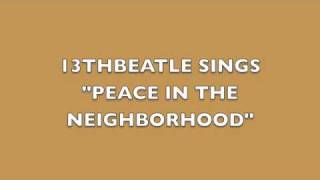 PEACE IN THE NEIGHBORHOOD-PAUL MCCARTNEY COVER