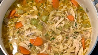 Chunky Chicken Noodle Soup Recipe  HOMEMADE