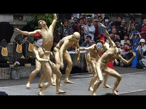 大須大道町人祭 2015 (大駱駝艦の金粉ショー) 大光院 ≪一部無音≫