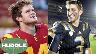 Josh Rosen & Sam Darnold Declare for the Draft; Are They NFL-Ready?? -The Huddle