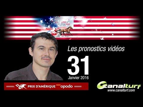 emission video des courses turf pmu du Dimanche 31 janvier 2016