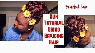 Gambar cover Bun Tutorial Using Braiding Hair